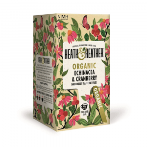 Heath & Heather Organic Echinacea & Cranberry Tea 20 bags