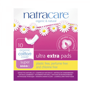 Natracare Ultra Extra Pads Super with wings 10's