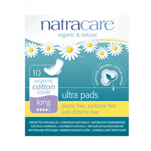 Natracare Ultra Pads Long with Wings 10s