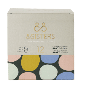 &Sisters Pads with Wings Duo 6 Day/6 Night 12 Pieces