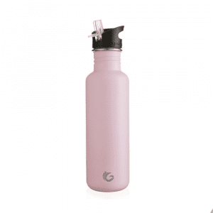 One Green Bottle 800ml Stainless Steel Tough Reuseable Water Bottle Blush Pink