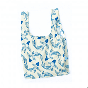 Kind Bag Medium 100% Recycled Reuseable Bag Koi Carp Design