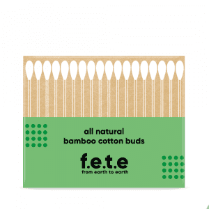 F.E.T.E Natural Cotton & Bamboo Swabs (Cotton Buds) 100 pack