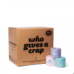 Who Gives A Crap 100% Recycled Toilet Paper 48 Double Length Rolls